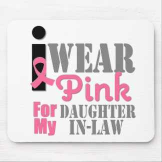 Breast Cancer I Wear Pink Daughter-in-Law Mousepad