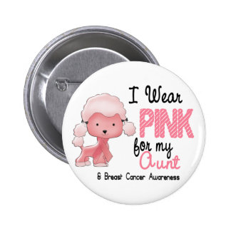 Breast Cancer I Wear Pink For My Aunt 47 6 Cm Round Badge