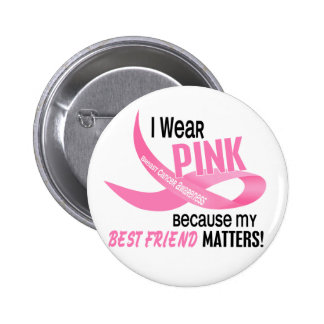 Breast Cancer I WEAR PINK FOR MY BEST FRIEND 33.2 6 Cm Round Badge