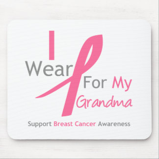 Breast Cancer I Wear Pink For My Grandma Mouse Pad