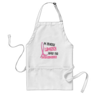 Breast Cancer I Wear Pink For My Sister-In-Law 37 Adult Apron