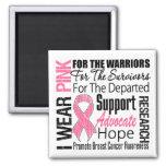 Breast Cancer I Wear Pink Ribbon TRIBUTE Magnet