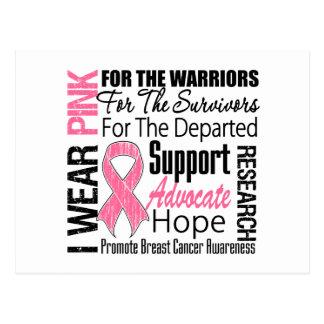 Breast Cancer I Wear Pink Ribbon TRIBUTE Postcard