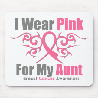 Breast Cancer I Wear Pink Tribal Ribbon (Aunt) Mouse Pad