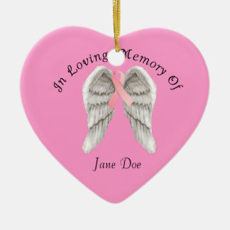 Breast Cancer In Memory Christmas Ornament