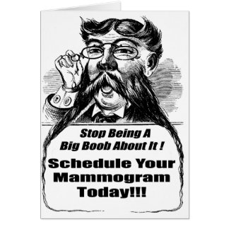 Breast Cancer Mammograms Greeting Card