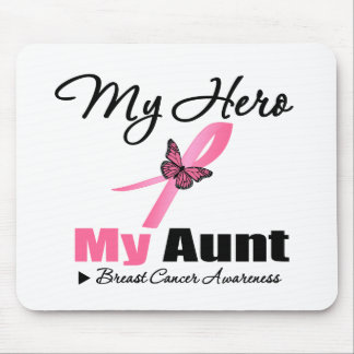 Breast Cancer My Hero My Aunt Mouse Pad