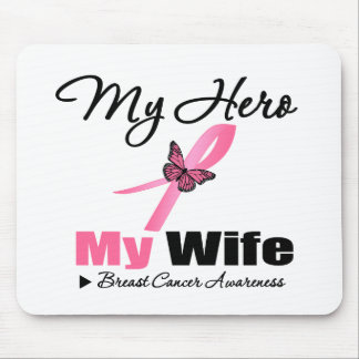 Breast Cancer My Hero My Wife Mouse Pad