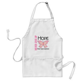 Breast Cancer Never Give Up Hope Butterfly 4.1 Standard Apron