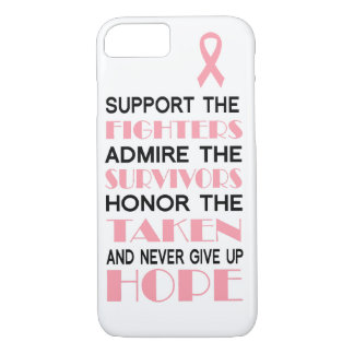 Breast Cancer Never Give Up Hope Phone Case