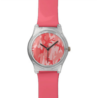 Breast Cancer Pink Camo Wristwatches