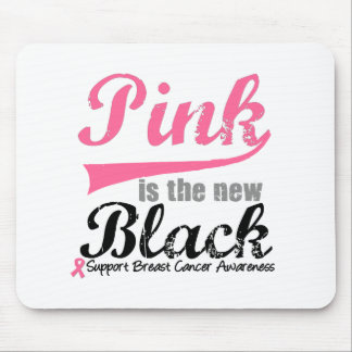 Breast Cancer Pink is The New Black Mouse Mat