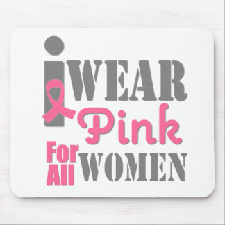 BREAST CANCER PINK RIBBON All Women Mousepads