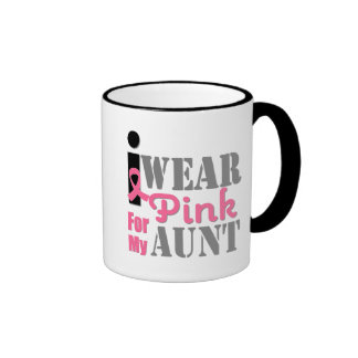 BREAST CANCER PINK RIBBON Aunt Coffee Mugs