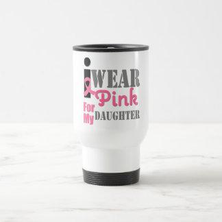 BREAST CANCER PINK RIBBON Daughter Mugs