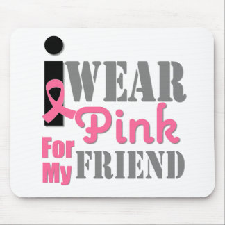 BREAST CANCER PINK RIBBON Friend Mouse Pads