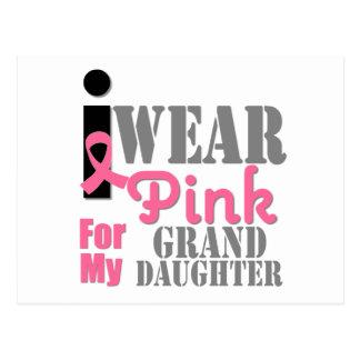 BREAST CANCER PINK RIBBON Granddaughter Postcard