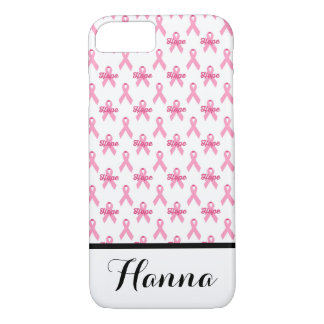 Breast Cancer Pink Ribbon Hope Personalized iPhone 8/7 Case
