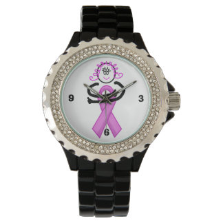 Breast Cancer Pink Ribbon Hug Watch