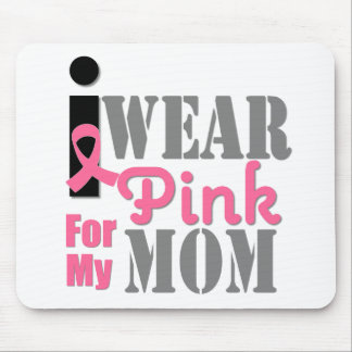BREAST CANCER PINK RIBBON Mom Mousepads