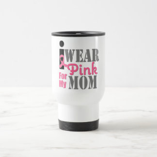 BREAST CANCER PINK RIBBON Mom Coffee Mugs