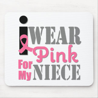 BREAST CANCER PINK RIBBON Niece Mousepad