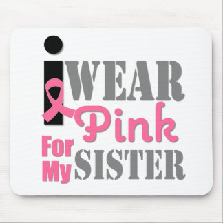 BREAST CANCER PINK RIBBON Sister Mousepads