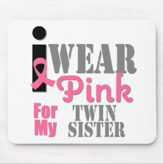 BREAST CANCER Pink Ribbon Twin Sister Mouse Pads