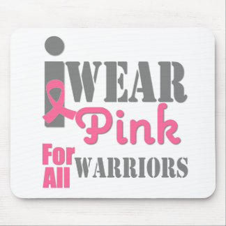 BREAST CANCER PINK RIBBON Warriors Mouse Pad