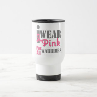 BREAST CANCER PINK RIBBON Warriors Stainless Steel Travel Mug