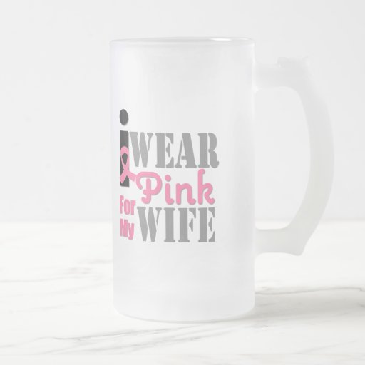 BREAST CANCER PINK RIBBON Wife Mugs