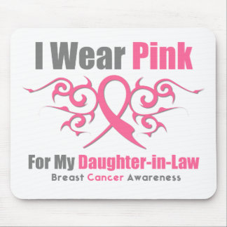 Breast Cancer Pink Tribal Ribbon Daughter-in-Law Mouse Pad