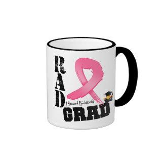 Breast Cancer Radiation Therapy RAD Grad Ringer Mug