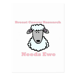 Breast Cancer Research Needs Ewe Postcard