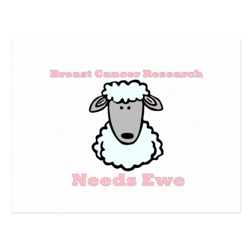 Breast Cancer Research Needs Ewe Post Cards