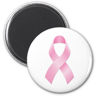 Breast Cancer Ribbon 6 Cm Round Magnet