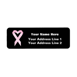 Breast Cancer Ribbon (customizable) Return Address Label