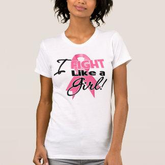 Breast Cancer Ribbon - I Fight Like a Girl Tanktop