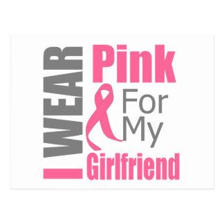Breast Cancer Ribbon I Wear Pink Girlfriend Postcard