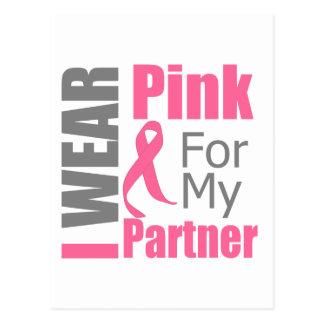 Breast Cancer Ribbon I Wear Pink Partner Postcard