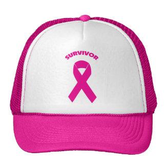 breast cancer ribbon SURVIVOR Trucker Hat