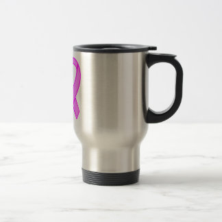 Breast Cancer Ribbon Travel Mug