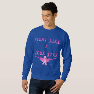 Breast Cancer Rock Star Men's Sweatshirt