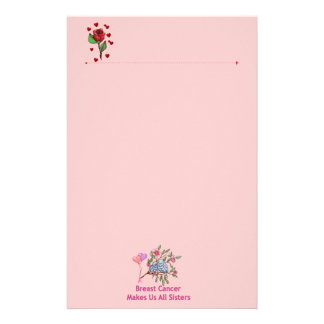 Breast Cancer Sisters Customized Stationery