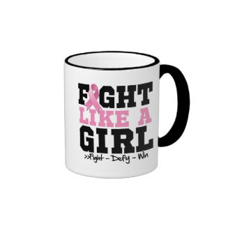 Breast Cancer Sporty Fight Like a Girl Mug