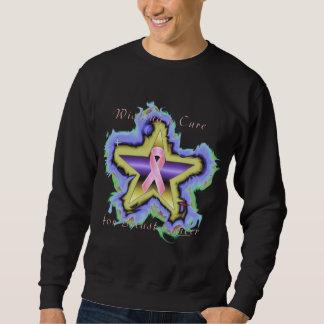 Breast Cancer Star Wish Men's Sweatshirt