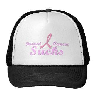 Breast cancer sucks mesh hat