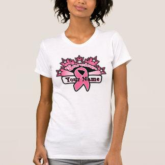 Breast Cancer Superstar Survivor Custom Ribbon Tees