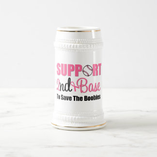 Breast Cancer Support 2nd Base Beer Steins