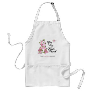 Breast Cancer Support Best Friend Adult Apron